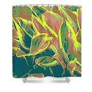 Abstract - Hostatakeover Shower Curtain