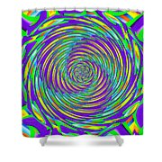 Abstract Hypnotic Shower Curtain by Kenny Francis