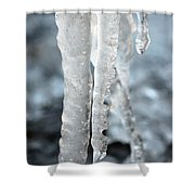 Abstract Icicles I Shower Curtain
