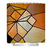 Abstract Impossible Warm Figure Shower Curtain