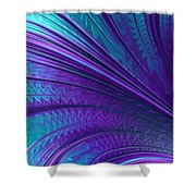 Abstract In Blue And Purple Shower Curtain