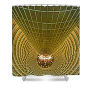 Abstract In Gold Shower Curtain