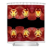 Nature In Abstract Orchid Square Shower Curtain