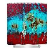 Abstract In Red 6 Shower Curtain
