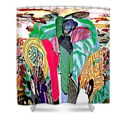 Abstract Inca Warriors Past Present And Future Shower Curtain