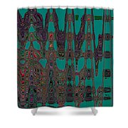 Abstract Iv Shower Curtain