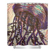 Abstract Jellyfish In Ink Shower Curtain
