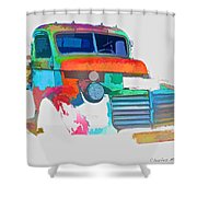 Abstract Jimmy Shower Curtain