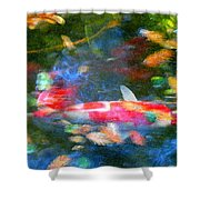Abstract Koi 1 Shower Curtain