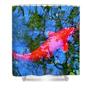 Abstract Koi 4 Shower Curtain