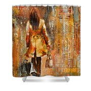 Abstract Lady  5 Shower Curtain