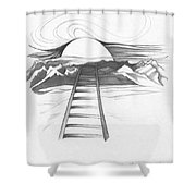 Abstract Landscape Art Black And White Baby Please Don't Go By Romi Shower Curtain