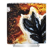 Abstract Landscape Art - New Growth - By Sharon Cummings Shower Curtain