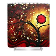 Abstract Landscape Glowing Orb By Madart Shower Curtain