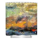 Abstract Landscape II Shower Curtain