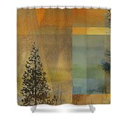 Abstract Landscape One Shower Curtain