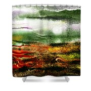 Abstract Landscape Sunrise Sunset Shower Curtain