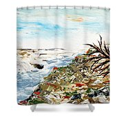 Abstract Landscape Untitled Shower Curtain