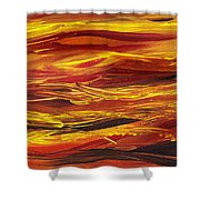 Abstract Landscape Yellow Hills Shower Curtain
