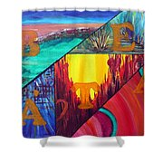 Abstract Landscapes Shower Curtain