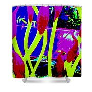 Abstract Lavender  Shower Curtain