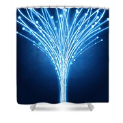 Abstract Lighting Lines Shower Curtain by Setsiri Silapasuwanchai