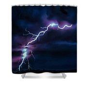 Abstract Positive Striker Lightning 13 Shower Curtain