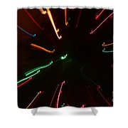 Abstract Lights Shower Curtain