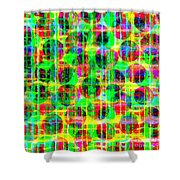 Abstract Lines 16 Shower Curtain
