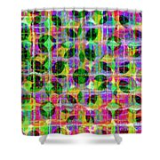 Abstract Lines 17 Shower Curtain