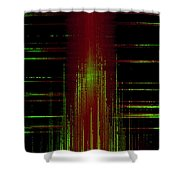 Abstract Lines 2 Shower Curtain