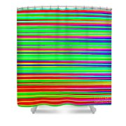 Abstract Lines 3 Shower Curtain