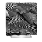 Abstract - Lines - Path To Destruction Shower Curtain