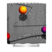 Abstract - Lines - That's A Moire Shower Curtain