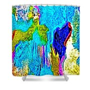 Abstract Melting Planet Shower Curtain