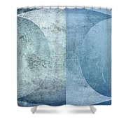 Abstract Metal 2 Shower Curtain