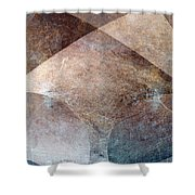 Abstract Metal Shower Curtain