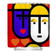 Abstract Modern Shower Curtain