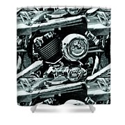 Abstract Motor Bike - Doc Braham - All Rights Reserved Shower Curtain