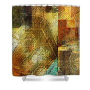Abstract Music Shop Window One Shower Curtain