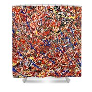 Abstract - Nail Polish - Clown Suicide Shower Curtain