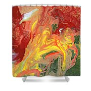 Abstract - Nail Polish - In A State Of Flux Shower Curtain by Mike Savad