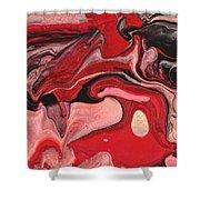 Abstract - Nail Polish - Raspberry Nebula Shower Curtain by Mike Savad