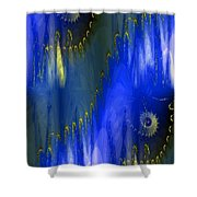 Abstract Nautilus Shower Curtain