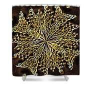 Abstract Neon Gold Shower Curtain