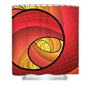 Abstract Network Shower Curtain