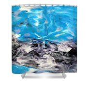 Abstract Nine Of Twenty One Shower Curtain