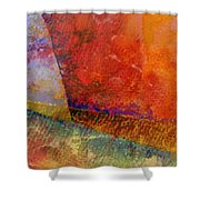 Abstract No. 1 Shower Curtain