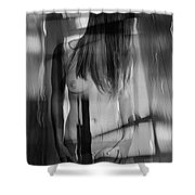 Abstract  Nude Woman 4 Shower Curtain