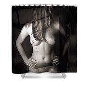 Abstract Nude Woman 7 Shower Curtain
